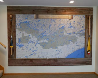 Mural!!! Boundary Waters Canoe Area Wilderness Map, One of a Kind Print, If You Love the BWCA