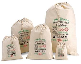 Personalised Santa Sack & Gift Bags - William Design