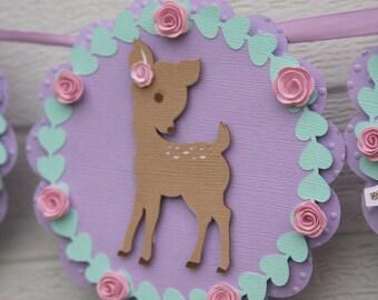 little deer decor - little deer baby shower banner - oh deer baby shower - deer birthday decorations - little deer party - deer 1st birthday