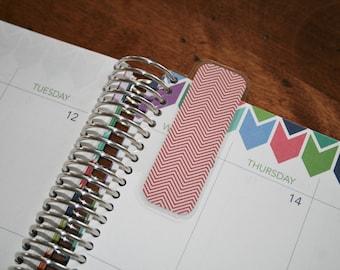 Mini Coil Clip In Laminated Bookmark Page Marker / Filofax, Erin Condren, Limelife, Plum Paper Planner (04)