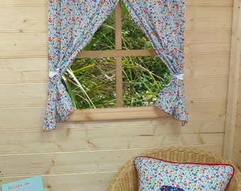 Garden Flowers Playhouse Curtains