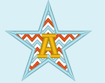 Star Chevron monogram BX also ALL other (.pes .hus .dst .vp3 .vip .xxx .exp . jef)  - embroidery appliqué monogram embroidery design