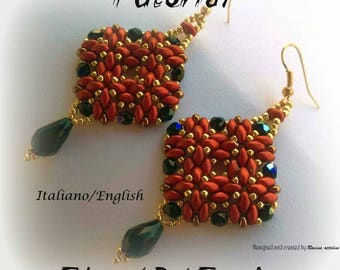 Elegant Red Earrings ( Tutorial graphics pictures in Italian or in English)