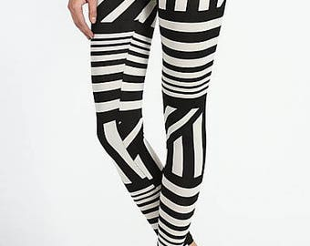 Abstract Linework Leggings