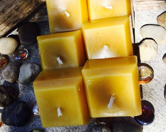100% Pure Beeswax square votive candles-beeswax votive candles-beeswax square candles-pure beeswax votive candle-set of beeswax votives