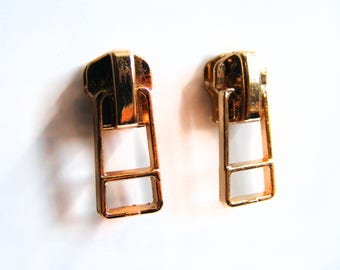 Gold Zipper Earrings