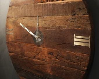 Large Sleeper Clock - Hand made from old reclaimed sleeper wood.