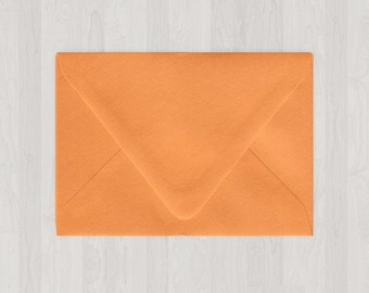 10 A6 Envelopes - Euro Flap - Oranges - DIY Invitations - Envelopes for Weddings and Other Events