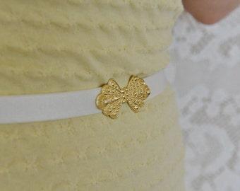 Bridal Belt - Wedding dress Belt - Waist Belt - Gold Belt - White Belt - Wedding Accessories - Bridal Accessories - Wedding gown Belt