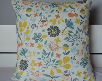 Colorful cherry pillow cover