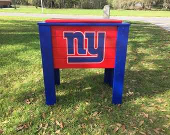 New York Giants wood cooler stand
