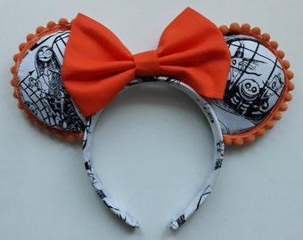 Pumpkin King Nightmare Before Christmas Disney Ears