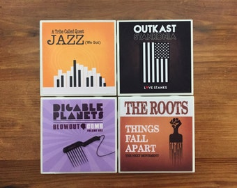 Classic Hip Hop Ceramic Coasters- The Avant Guarde Collection