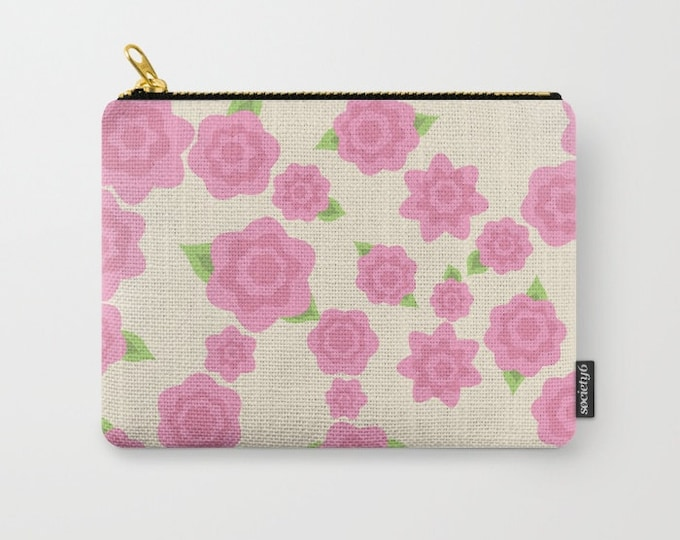 Flower Make-up Bag-Small-Medium-Large Pouch-Carry All Pouch- Toiletry Bag - Change Purse - Organizing Bag - Made to Order
