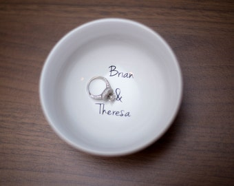 wedding ring dish grow old with me the best is yet to be customizeable