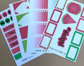 Watermelon Deluxe Planner Sticker Kit