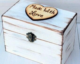 Rustic Recipe Boxes, 4x6 Recipe Card Box, Recipe Card Storage, Wood Recipe Box, Farmhouse Style, Recipe Organizer, Fixer Upper Style