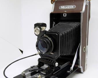 Moment Old Vintage USSR Polaroid Camera 1:6 .8 F = 135mm very Rare, collector's camera,retro camera,rare camera,old camera,antique camera