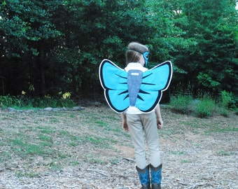 Cranberry Blue Butterfly Costume - Mask, Wings, Mask & Wings Combo