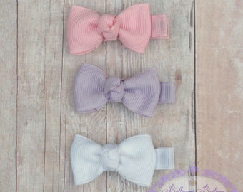 Baby hair bows, itty bitty hair clip, infant hair bows, baby hair clip, 10 itty  bitty hair bows you choose colors