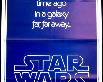 "STAR WARS ~ Rare U.S. Style 'B' Teaser 1 Sheet ~ Guaranteed Original 27""x41"" Movie Poster ~ Very Fine Condition! Mark Hamill, Carrie Fisher!"