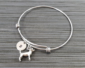 Chihuahua Bangle - Dog Charm Bracelet - Expandable Bangle - Charm Bangle - Chihuahua Bracelet- Initial Bracelet - Dog Bracelet