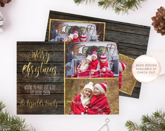 Christmas Card, Christmas Cards, Personalized Christmas Card, Printable Christmas Card, Christmas Card with Photo, Christmas Card Set [685]