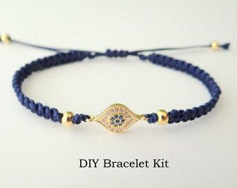 DIY Bracelet Kit - Rhinestone Macrame Bracelet Tutorial