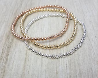Gold Filled Beaded Layering Bracelet