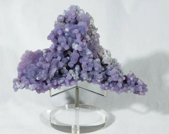 A BIG! Purple AAA Botryoidal Chalcedony GRAPE Agate Crystal Cluster 391gr