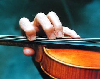 Violin and Hand vintage press photograph