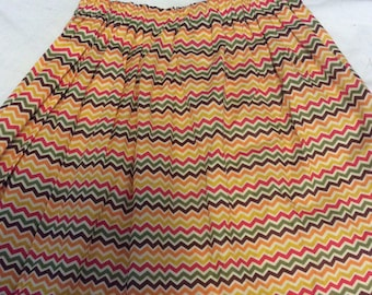 Harvest Thanksgiving Chevron Fall Skirt