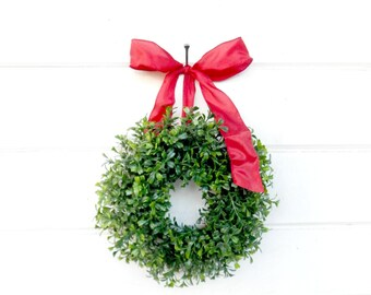 MINI Window Wreath-Boxwood Wreath-Country Cottage Wreath-Artifical Boxwood Wreath-Wall Hanging-Small Wreath-Custom Made Gifts-Scented Wreath