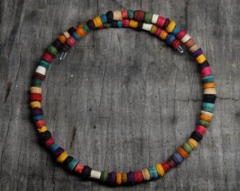 earth tone tulsi wood bracelet
