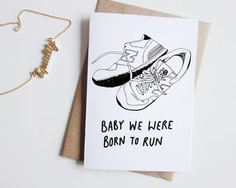 Bruce Springsteen Born To Run Card