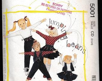 Easy McCall's 5001 Children's Reversible Vest,Tops,Skirt and Pants