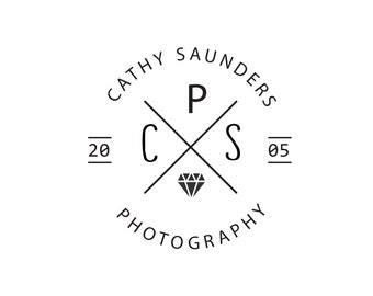 Badge Logo Design Branding Package Premade Graphics Custom Text Clean Monogram Photography Modern Hipster Black White