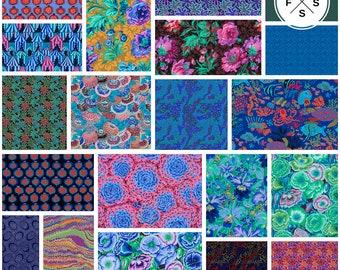 "Kaffe Fassett Collective Spring 2018 Dark Precut 5"" Charm Pack Fabric Quilting Cotton Squares FB6CPGP.DQ417 Free Spirit SQ14"