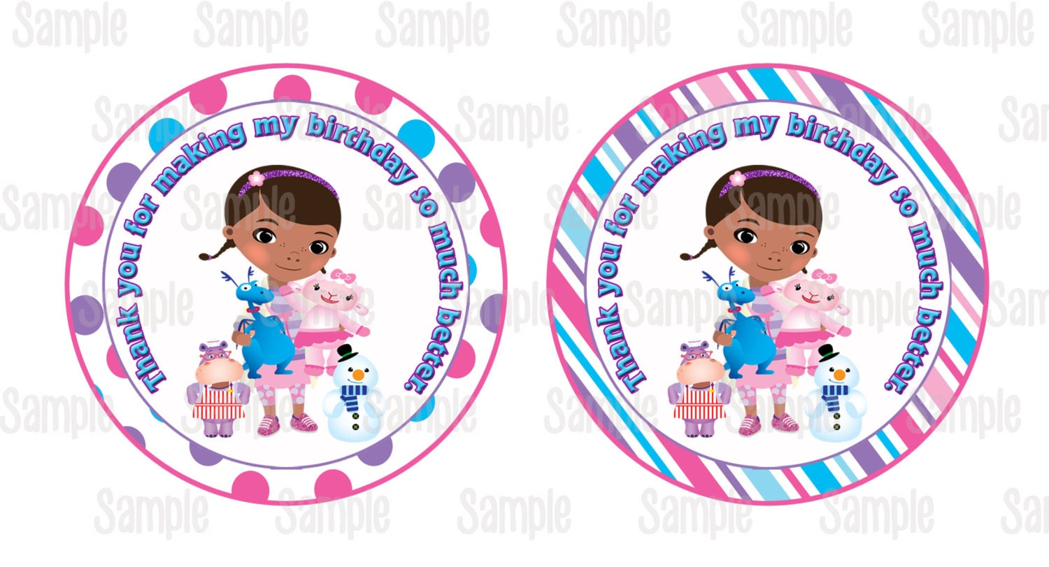 This is a graphic of Refreshing Doc Mcstuffins Party Printables