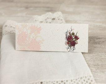 Botanical Red Flower Wedding Place Cards - (set of 50)