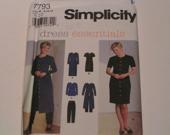 Simplicity Pattern 7793 Dress Essentials Miss Dress Jacket Pants