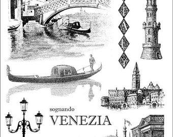 VENEZIA, Venice, ITALY, gondola - Set of unmounted rubber stamps Plate 39