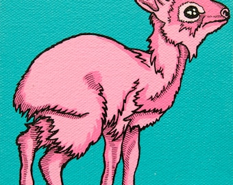 Pop Art Dik Dik Archival Print, Cute Gunther's Dik Dik Art, Cute Baby Shower Gift Animal Art, Pop Art for Weirdos, Affordable Nursery Art