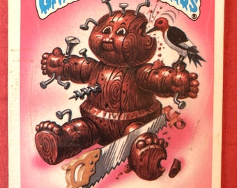 Vintage 1986 Garbage Pail Kids cards Woody Alan