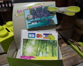 Credit card forest green stickers