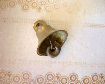 "Vintage Brass Bell from East India 20mm (3/4"") lot of 1 small pendant charm"