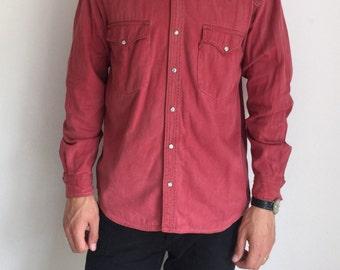 Vintage LEVI's Men's Red Shirt