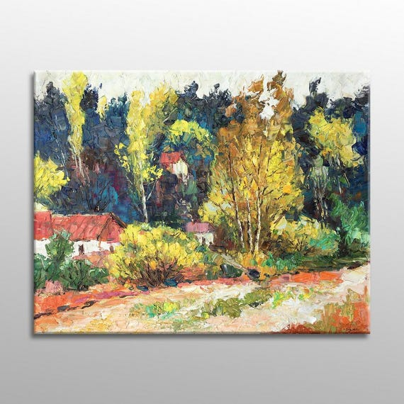 Oil Painting Autumn Landscape Painting Large Art Abstract
