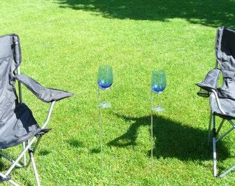 Set of 4 Outdoor Wine Glass Holders