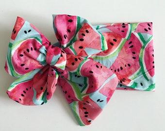 Watermelon Headwrap, Watermelon headband, Watermelon baby Headwrap